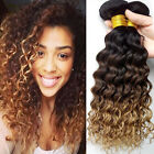Brazilian Deep Curly Hair weft 1 Bundle Unprocessed Hair Extensions 50g Ombre