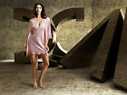 Free ship White/Bule/Pink silk Blend Women Lace Sleepwear Robe & Gown Set M-2XL