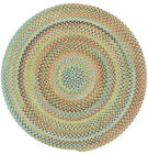 Capel Rugs Kill Devil Hill Wool Country Braided Area Round Rug Dusty Multi #910