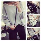 Fashion Women's Ladies Loose Long Sleeve Casual Blouse Shirt Tops T-shirt New
