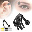 Skeleton Hand Tragus Cartilage Upper Ear Eye Piercing Stud Top Earring 16ga