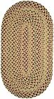 Capel Rugs Pristene Straw Multi Reversible Country Home Oval Braided Rug