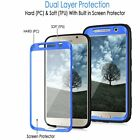 For Samsung Galaxy S6 Hard  Outer Box Armor Skin Rubber Case Cover w/Film
