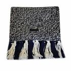 FRED PERRY REVERSIBLE NAVY WHITE BLACK SCARF