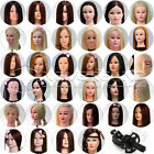 Long Real Human Salon Hairdressing Practice Training Head Mannequin + Free Clamp