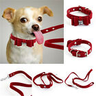 Delicate Adjustable Bowknot Wine Red Fabric Pet Puppy Dog Cat Collar/Leashes
