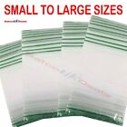 Grip Seal Bags Self Resealable Clear Plastic Mini Zip Lock Bag ALL SIZES AMOUNT