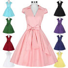 Women Vintage 50s Retro Swing Dress PLUS SIZE Pin Up Homecoming Housewife Dress