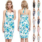 Stock Halter Retro Vintage Hips-Wrapped Party Dress UK Size 4 6 8 10 12 14 16 18