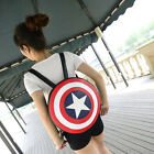 Super Hero Character Captain America Weapon Shield Round Kids/Adult BackPack Bag