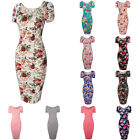 Women's Floral Bandage Bodycon Summer Evening Party Cocktail Pencil Midi Dress