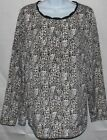 Womens Blouse Top Jaclyn Smith Snakeskin Dressy Classic S/Small L/Large XL XXL