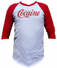 Cocaine T Shirt - 3/4 Sleeve Baseball Tee - Graphic tees for Men and Women