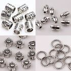 100Pcs Fashional Stylish Plated Silver Loose Space Beads Charms Jewelry Making