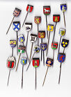 Vintage Dutch City Shield Coat of Arms pin badges 1960s 1/4