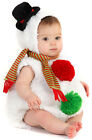 Plush Outfit Adorable Christmas Snowman Infant Costume