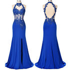 Womens Maxi Long Dress Blue Wedding Bridesmaid Evening Cocktail Prom Party Dress
