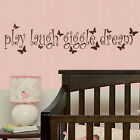 Play Laugh Giggle - Kids Quote /Stylish Art / Childrens Quote Wall Sticker nin43