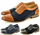 New Mens Office Formal Smart Work Wedding Lace Up Faux Suede Shoes UK Sizes 5-11