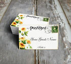 YELLOW DAISY POSTCARD WEDDING PLACE CARDS, TAGS or ESCORT CARDS #141
