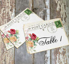 DOUBLE or SINGLE SIDED ROSE POSTCARD WEDDING TABLE CARDS or SIGNS #138