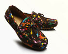 US Size 5-11 Colorful Leather Mens Driving Moccasin Flats Shoes & Free Cufflinks
