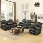 Gold Thread Sofa Set Loveseat Couch Recliner 3 2 1 Leather Living Room Furniture