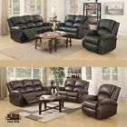 Gold Thread Sofa Set Loveseat Couch Recliner 3+2+1 Leather Living Room Furniture