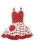 LITTLE MISS SUNDAYGIRL SO BERRY SWEET CHILDREN'S APRON VINTAGE RETRO 2-7 8-11Yrs