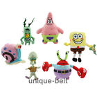 New Plush Soft Toy Doll SpongeBob SquarePants Patrick Star Squidward Tentacles
