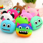 Kawaii Xmas Birthday Gift Cartoon Animal Silicone Jelly Coin Purse Mini Wallet