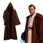 Star Wars Adult Hooded Jedi Brown Robe Costume Cosplay (S-3XL)
