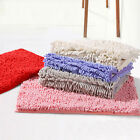10 colors Shaggy Microfibre Bathroom Shower Bath Mat Rug Carpet Non-Slip Backing
