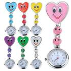 Heart Smile Face Nurse Quartz Pocket Clip On Fob Watch  - Choose You Colour image