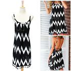 Sexy Women Sleeveless Party Evening Cocktail Summer Beach Short Mini Dress NEW