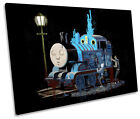 Banksy Thomas the Tank Engine SINGLE CANVAS WALL ART Picture Print