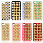 Luxury Handmade Full Spikes Studs Rivet Hard Back Cover Case For iPhone 4 4G 4S