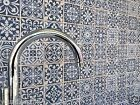 TILE DEALS / SAMPLES: Fez Blue Vintage Victorian Encaustic Wall & Floor Tiles