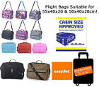 Easyjet Ryanair Hand Luggage Fits 50x40x20 Flight Cabin Approved Strap Bag