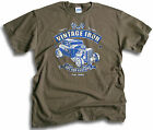 Vintage Iron Custom Classic V8 Hot Rod Coupe Roadster Mens Olive T Shirt Sm 2XL
