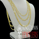 """Men's New Real 100% 10k Yellow Gold Figaro Cuban Link Chain Necklace 4mm 18""""~26"""""""