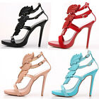Womens Gladiator Angel Wings High Heels Strappy Colorful Open Toe Sandals Shoes