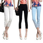 Fashion Candy Women Slim Pencil Pants Casual Skinny Stretch Leggings Trousers
