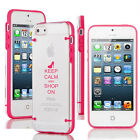 For iPhone SE 5 5s 5c 6 6s Plus Clear TPU Case Cover Keep Calm Shop On High Heel