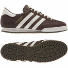 New Adidas Mens Beckenbauer Brown Trainers Shoes MOD Style