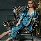 Freeshipping Silk Blend Women Lady's Sleepwear/sleepcoat/pajamas sets M/L/XL/2XL