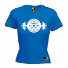 Dumbell Barbell Plate WOMENS T-SHIRT Weights Gym Training Muscle birthday gift