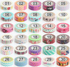 Design 1.5cm×10M DIY Paper Sticky Adhesive Sticker Decorative Washi Tape