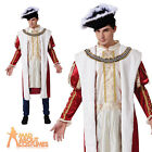Adult Historical Royal King Costume Mens Medieval Fancy Dress Outfit New