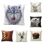 Vintage Animal Pattern Plush/ Linen Throw Pillow Case Cushion Cover Bed Sofa New